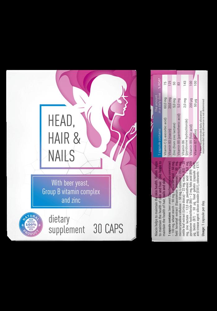 Head & Hair & Nail (Хед анд Хеа енд Нейл) - капсули від випадіння волосся