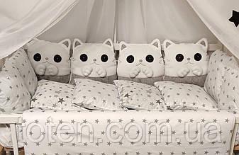 Комплект сменного постельного белья Котики. Разные цвета 733