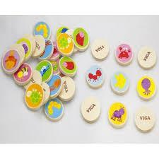 """Настольная игра """"Memory"""" 32 карточки Viga Toys 50126"""