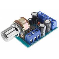 Усилитель TDA2822M 1.8-12В, 2х1Вт с регулятором, фото 1