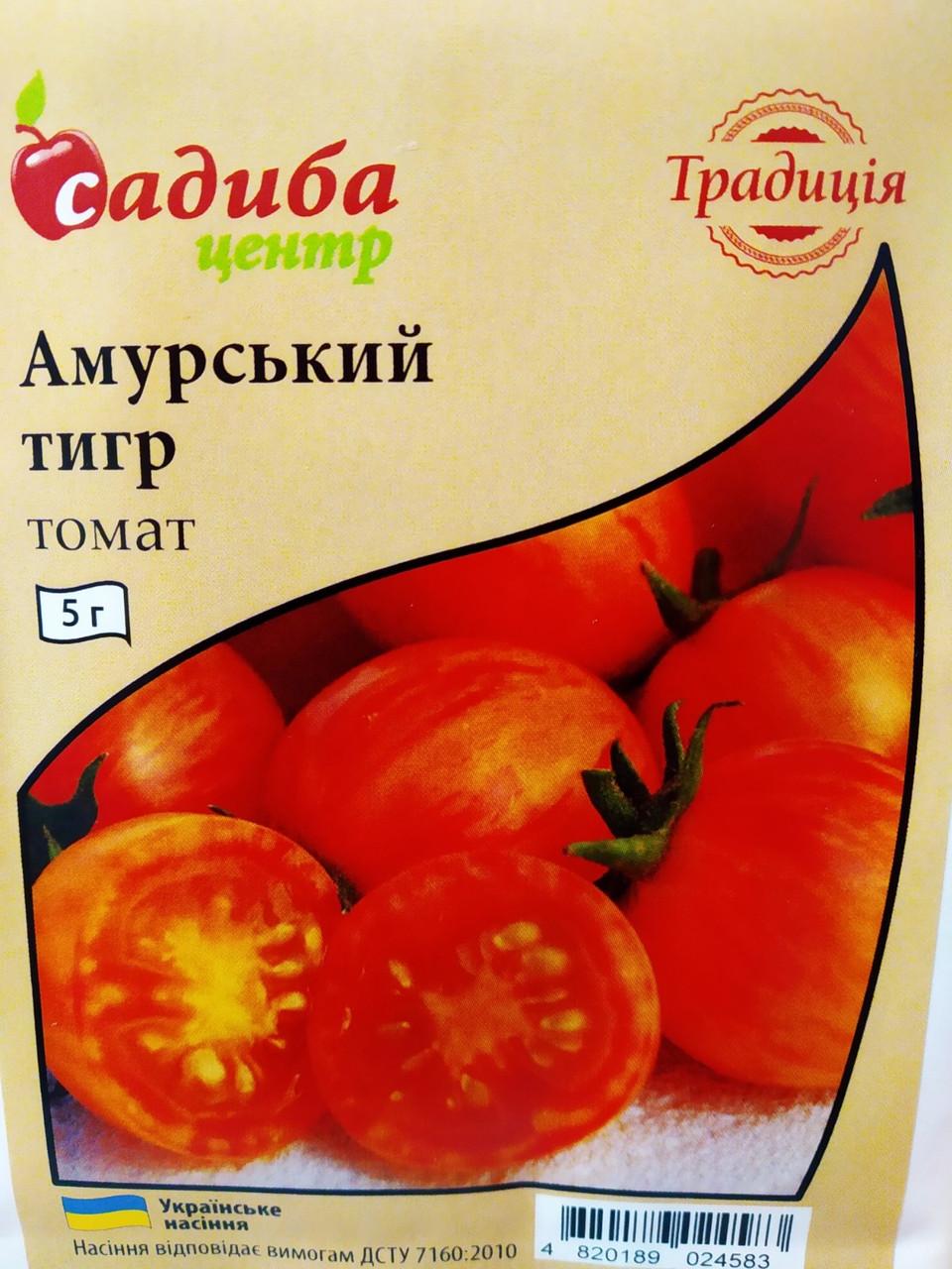 Насіння томату Амурський тигр ранній, низькорослий, 5 г, Україна