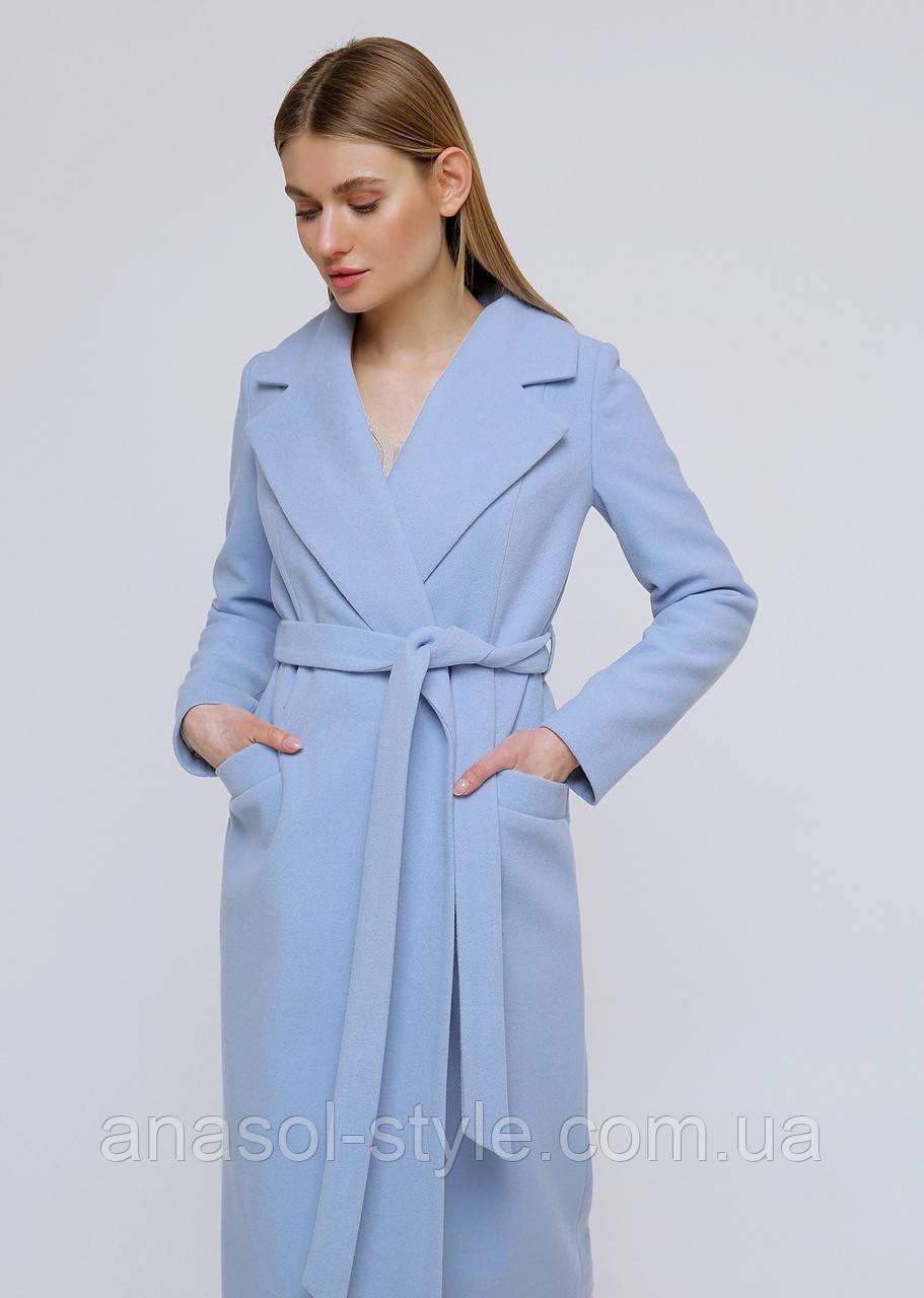 """Пальто """"ADALIS"""" голубой весна-осень"""