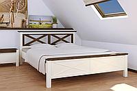 Кровать Нормандия 180-200 см (ваниль + темный орех)