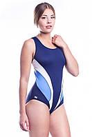 Женский купальник сдельный Shepa 045 с чашечками, для бассейна, синий