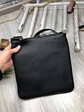 Трендовая планшетка Fendi черная Премиум Качество мужская сумка через плечо Молодежная VIP Фенди реплика, фото 3