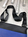 Трендовая планшетка Fendi черная Премиум Качество мужская сумка через плечо Молодежная VIP Фенди реплика, фото 6