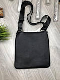 Трендовая планшетка Fendi черная Премиум Качество мужская сумка через плечо Молодежная VIP Фенди реплика, фото 7