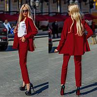 Офисный костюм бордового цвета 42,44,46 р.