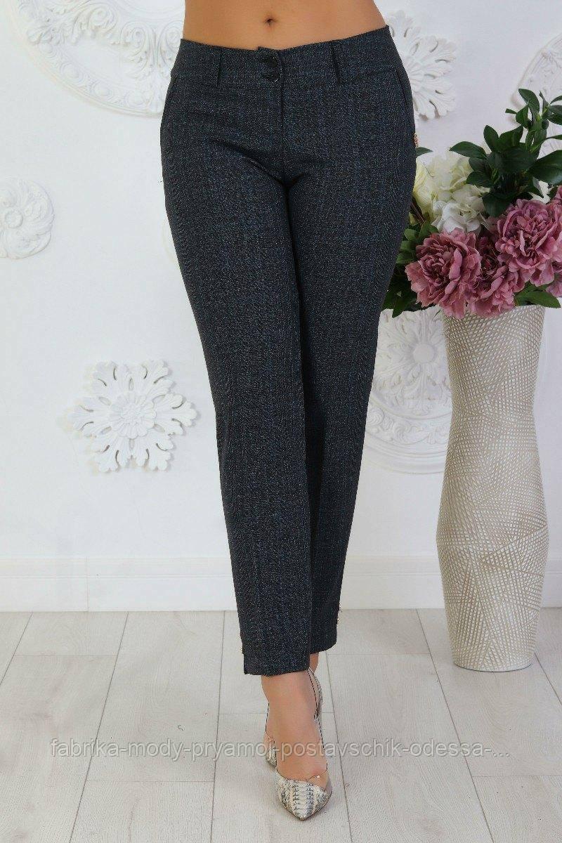 Женские брюки размер 46-52 серый №136