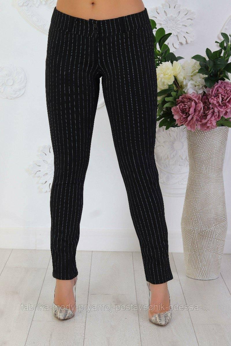 Женские брюки размер 46-54  черный  на резинке №015