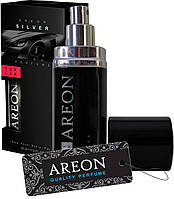 """Ароматизатор для автомобіля AREON """"Premium Perfume"""" Silver 50ml (парфуми)"""