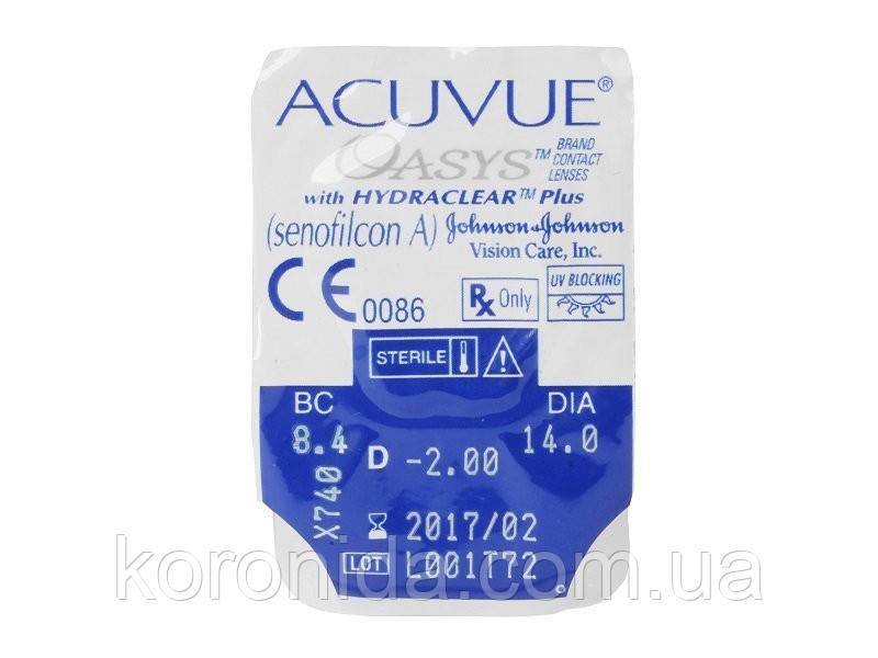 Акуве Оазис Контактные линзы Acuvue Oasys with HYDRACLEAR Plus 1 шт. 8,4, -5,00
