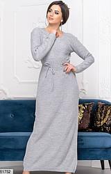 Женское платье макси серое 61752
