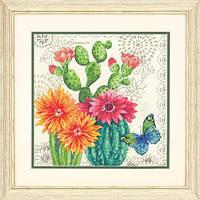 Набор для вышивания крестом Cactus Bloom/Цветение кактусов DIMENSIONS 70-35388