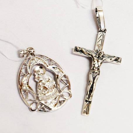 Серебряные крестики, медальоны и цепочки