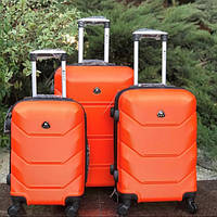 Дорожный чемодан 4х на колесах Fly (комплект) 4 шт Оранжевый
