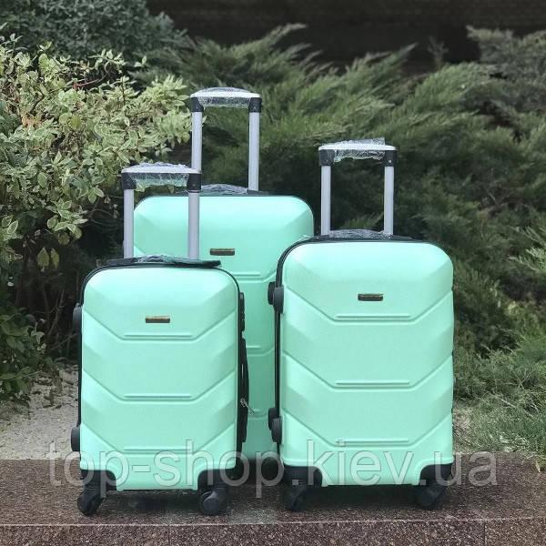 Дорожный чемодан 4х на колесах Fly (комплект) 4 шт Бирюзовый