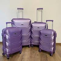 Дорожный чемодан 4х на колесах Fly (комплект) 4 шт Фиолетовый