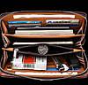 Большой мужской клатч барсетка светло-коричневая, Стильное мужское портмоне клатч эко кожа, Кошельки клатчи, фото 4
