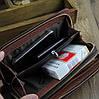 Чоловічий великий гаманець барсетка клатч, Стильний чоловічий клатч гаманець коричневий, Модні клатчі еко шкіра, фото 4
