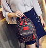 Мини рюкзаки для девушек коричневый, Рюкзак женский, Женский рюкзак городской, Мини-рюкзак женский стильный, фото 2