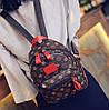 Мини рюкзаки для девушек коричневый, Рюкзак женский, Женский рюкзак городской, Мини-рюкзак женский стильный, фото 5