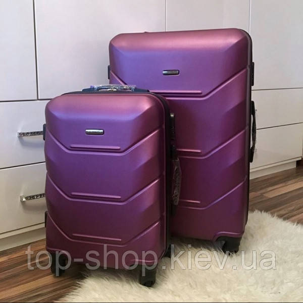 Дорожный чемодан из поликарбоната Wings 60 л средний на 4-х колесах (М)