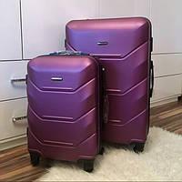 Дорожный чемодан из поликарбоната Wings 60 л средний на 4-х колесах (М), фото 1