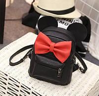 Маленький детский рюкзак с ушами Черный