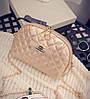 Женская маленькая сумочка клатч стеганая, Женские мини сумки, Мини-сумочка золотистая на плечо, фото 2