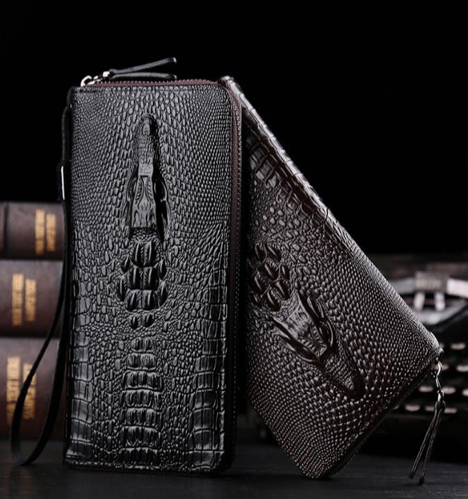 Модний клатч гаманець з крокодилом