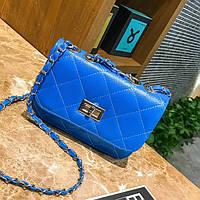 Маленькая женская сумка клатч Синий