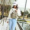 Женский рюкзак городской, Женский рюкзачок голубой, Модный женский рюкзак, Рюкзак женский для прогулок, фото 4