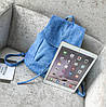 Женский рюкзак городской, Женский рюкзачок голубой, Модный женский рюкзак, Рюкзак женский для прогулок, фото 9