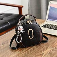 Модная женская сумочка рюкзак 2 в 1 черный , розовый