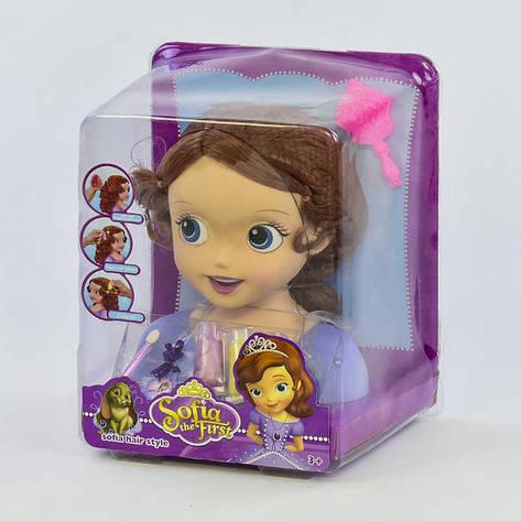 Кукла-голова ZT 8822 (12/2) Манекен для причесок и макияжа, в слюде, фото 2