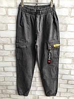 Штаны джинсовые женскиевысокаяпосадка с накладными карманамиразмеры 25-30, серого цвета