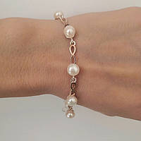 Срібний браслет із золотом і перлами Тессі, фото 1