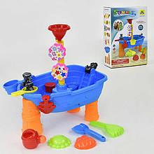 """Столик для песка и воды HG 667 (12) """"Кораблик"""", с аксессуарами, в коробке"""