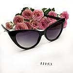 Солнцезащитные очки кошачий глаз,черные, фото 7