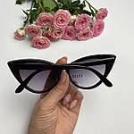 Солнцезащитные очки кошачий глаз,черные, фото 6