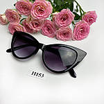 Солнцезащитные очки кошачий глаз,черные, фото 8