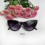 Солнцезащитные очки кошачий глаз,черные, фото 9