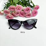 Солнцезащитные очки кошачий глаз,черные, фото 5