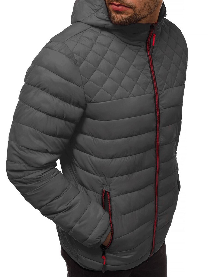 Мужская весенняя куртка серая