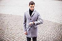 """Пальто Pobedov Coat """"BATYA"""" из кашемира серое"""