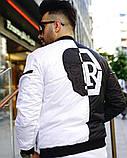 Мужская Дизайнерская куртка (бомбер,ветровка)Весенняя, фото 4