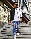 Мужская Дизайнерская куртка (бомбер,ветровка)Весенняя, фото 6