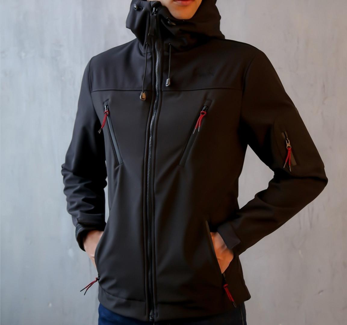 Мужская куртка Korol' Lev (черная)