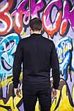 Чоловічий бомбер куртка,вітровка (чорно-бордовий), фото 3